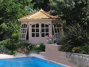 Kiosque de jardin, Gloriette fermée, Pavillon de jardin en bois