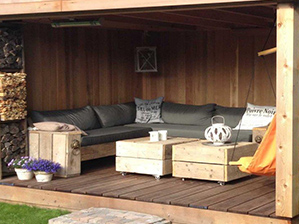 Terrasse bois couverte, Kiosque de jardin, Gloriette, Auvent en bois