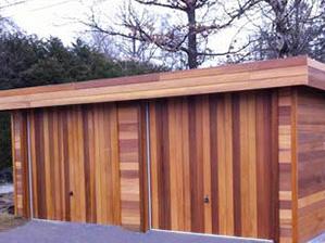 Carport, abri voiture bois, garage bois de jardin, charetterie, garage voiture bois toit plat fermé