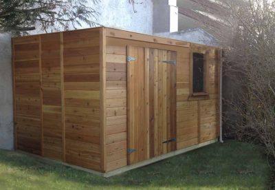 atelier de jardin en bois à toit plat