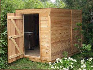 abri de jardin en bois à toit plat sans débord : 5m2 à 20m2 Le Fréjus
