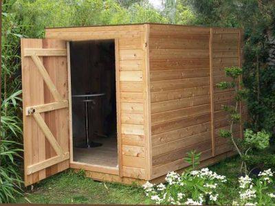 Cabane de jardin:Toit plat en bois