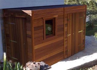 abri porte double toit plat