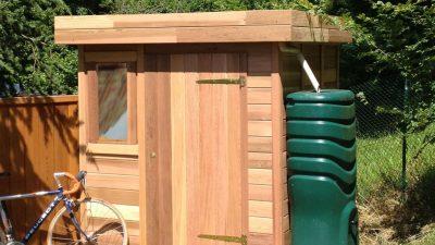 Abris de jardin en bois toit plat