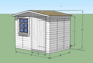 abri en bois deux pentes idéal pour ranger mobilier de jardin et outils