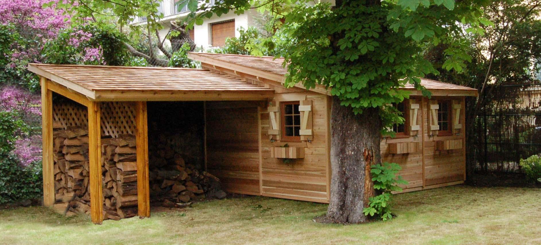 abri adossable en bois