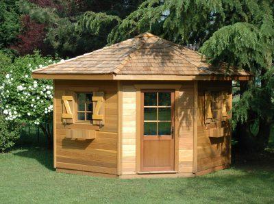 Abri de jardin d'angle en bois