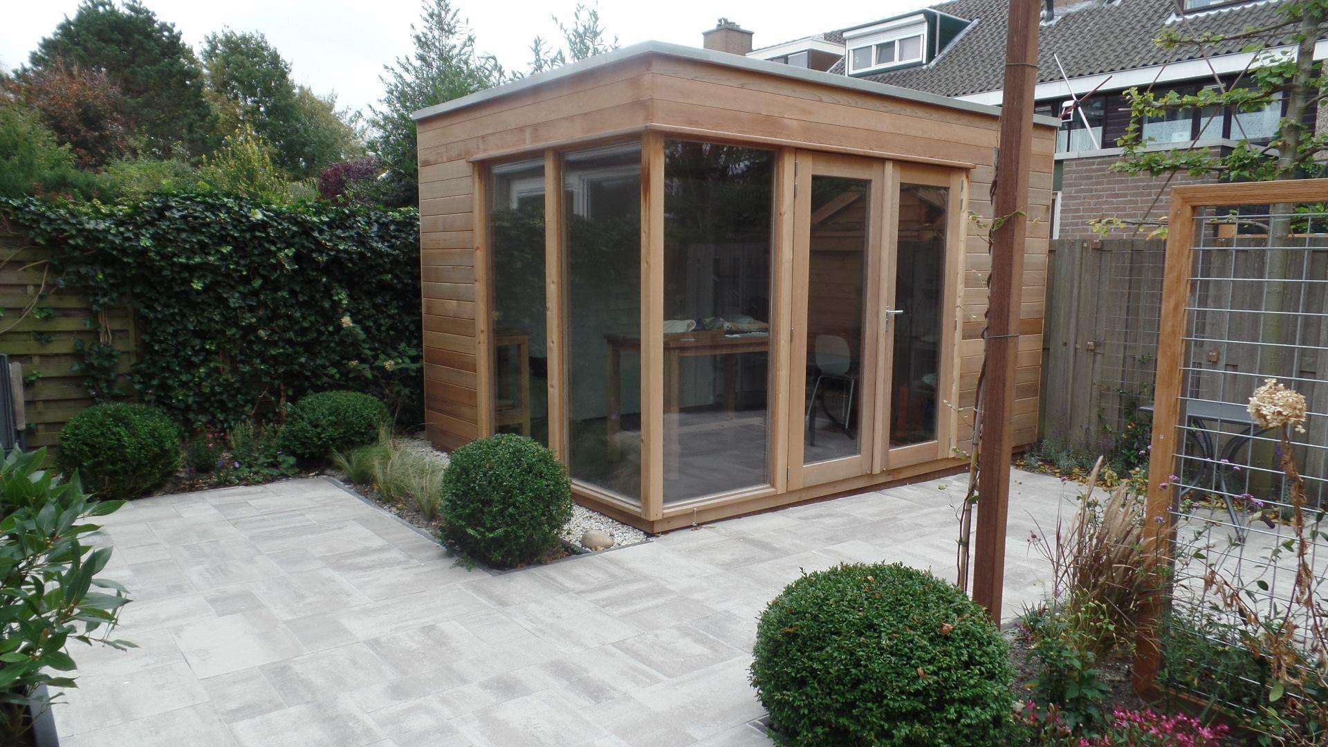 Studio de jardin en bois moderne toit plat sans d bord mod le nantes - Bureau de jardin prix ...