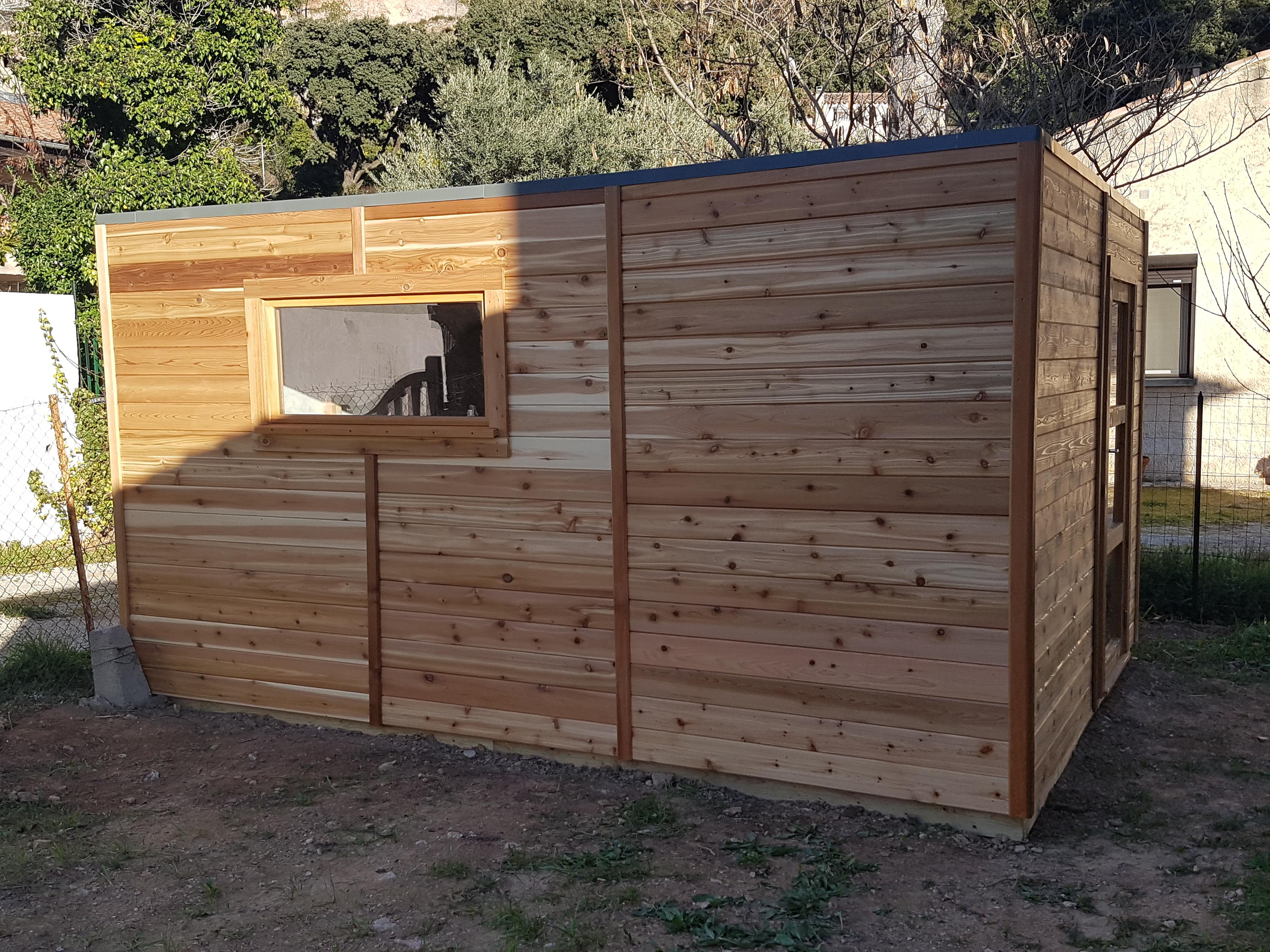 atelier de jardin toit plat sans d bord biarritz abri. Black Bedroom Furniture Sets. Home Design Ideas