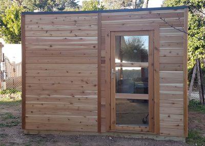 Abri en bois sur mesure toit plat