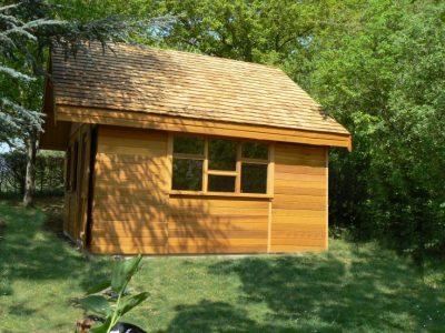 Studio ou Bureau de jardin en bois deux pentes Villars
