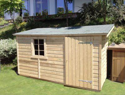 Abri de jardin en bois 1 pente de 5m2 à 11m2 : Le Quimper