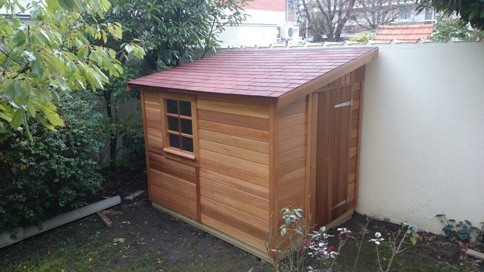 Abri de jardin en bois 1 pente de 5m2 à 11m2 Le Quimper